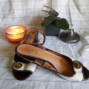 Coach womens  sandals size 10